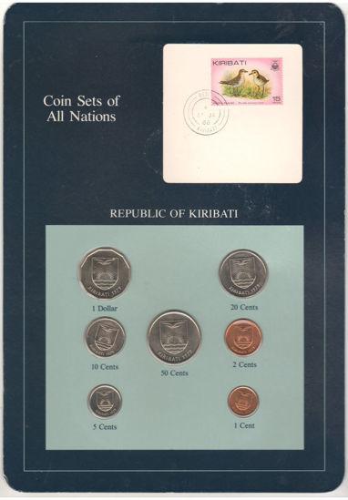 """Picture of Кирибати, Набор из 7 монет и 1 марки в буклете 1979, Серия """"Наборы монет всех стран мира"""""""