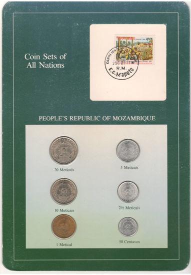 """Picture of Мозамбик, Набор из 6 монет и 1 марки в буклете 1980-1982, Серия """"Наборы монет всех стран мира"""""""