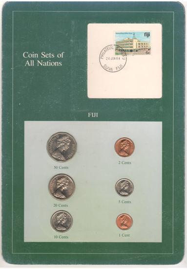 """Picture of Фіджі, Набір з 7 монет і 1 марки в буклеті 1981-1982, Серія """"Набори монет всіх країн світу"""""""