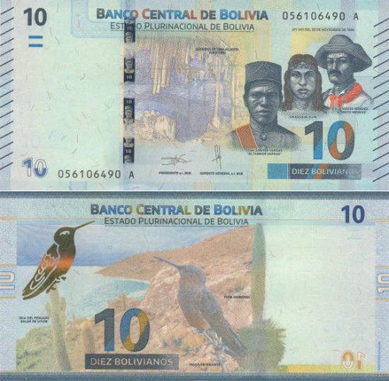 Picture of Боливия 10 боливиан 2018 (Р-86)