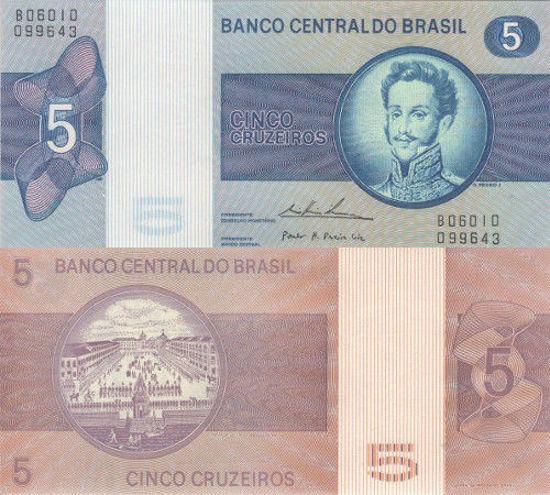 Picture of Бразилия 5 крузейро 1970-1973(Р-192c)