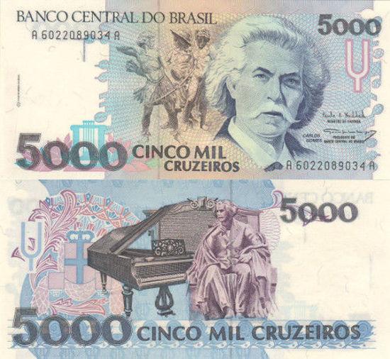 Picture of Бразилия 5000 крузейро 1993 (Р-232с)