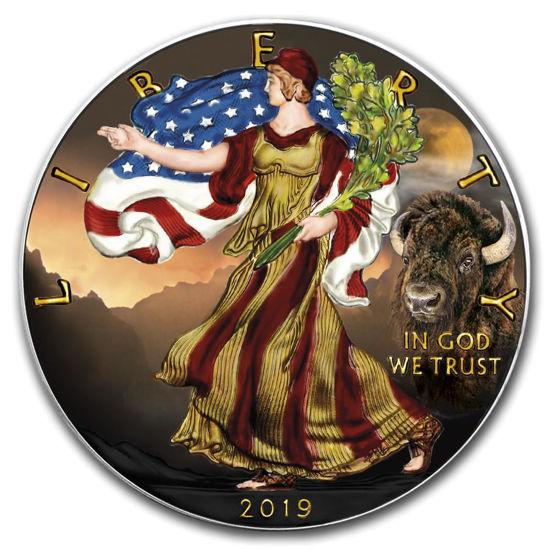 """Picture of Срібна монета """"Американський орел Liberty - Бізон"""" 31.1 грам 2019 р. США"""