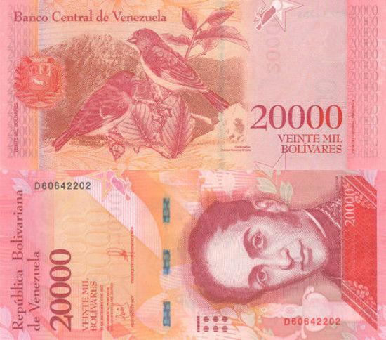 Picture of Венесуэла 20000 боливар 2017