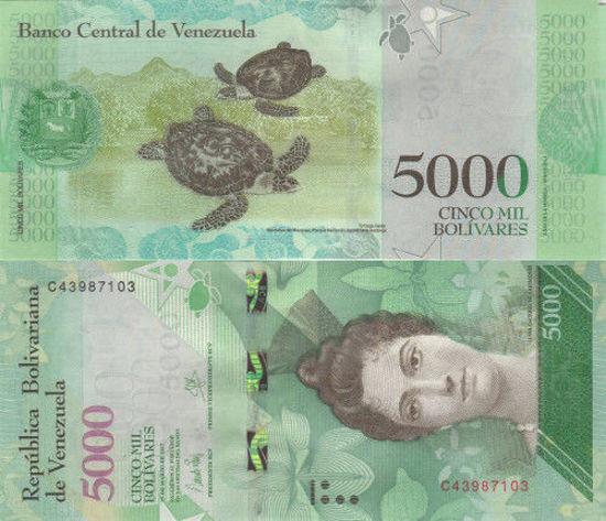 Picture of Венесуэла 5000 боливар 2017