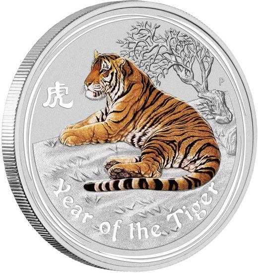 "Picture of Серебряная монета  Lunar II ""Год Тигра"" цветная 31,1 грамм 2010 г."
