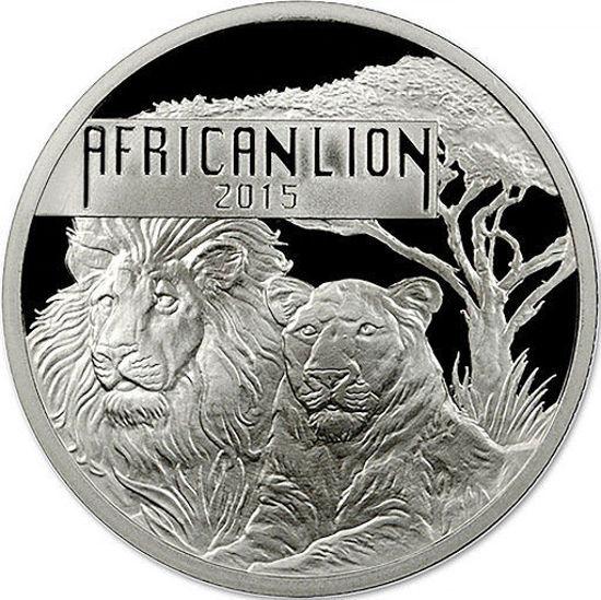 "Picture of Серебряная монета ""Африканский Лев"" 31,1 грамм 2015 г."