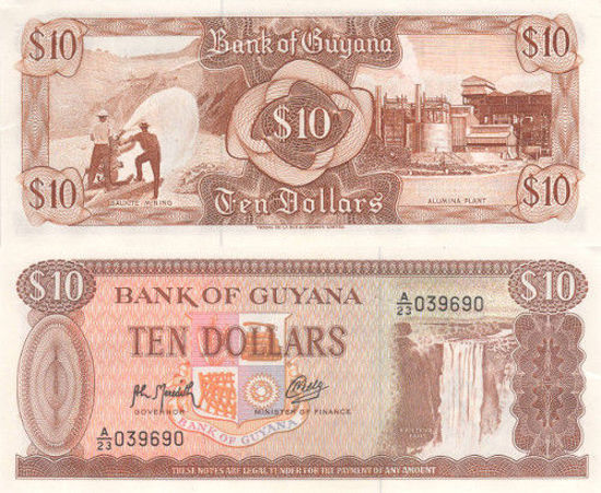 Picture of Гайана 10 доларів 1992 (Р 23)