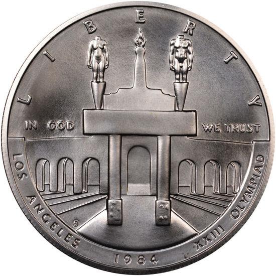 """Picture of Пам'ятна срібна монета """"Олімпійські ігри 1984"""" 1 долар"""