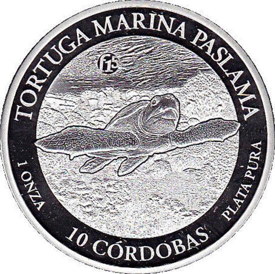 "Picture of Пам'ятна срібна монета ""Морська черепаха"" 10 Кордоб 2016 р"