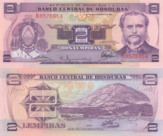 Picture of Гондурас 2 лемпіра 1976 (Р 16)