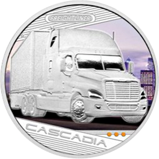 "Picture of Срібна монета ""Королі доріг - Freightliner Cascadia"" 31,1 грам Тувалу"