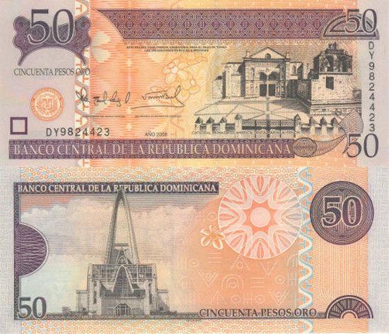 Picture of Домініканська Республіка 50 песо 2008