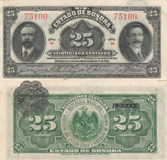 Picture of Мексика 25 сентаво 1915