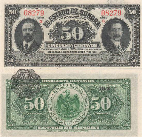 Picture of Мексика 50 сентаво 1915