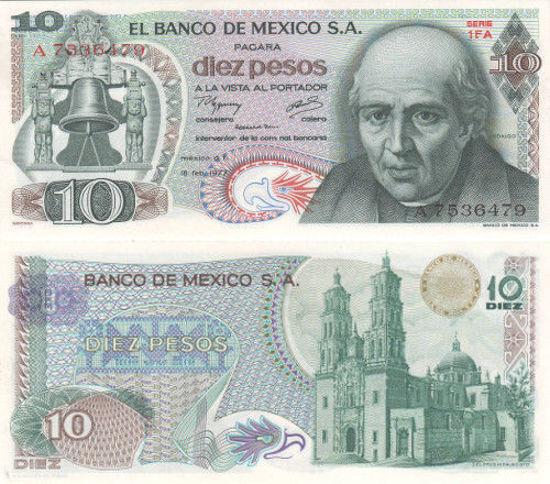 Picture of Мексика 10 песо 1977 (Р 63)