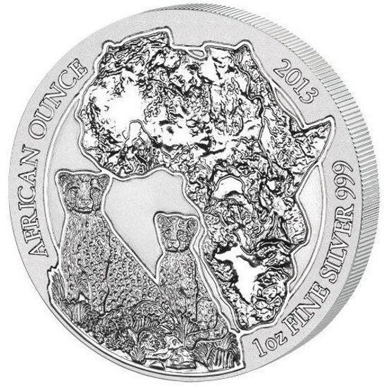 "Picture of Срібна монета ""Африканська дика природа""  31.1 грам Руанда 2013 р."