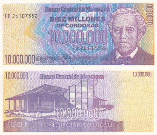 Picture of Никарагау 10.000.000 кордоба 1990 (Р 166а)