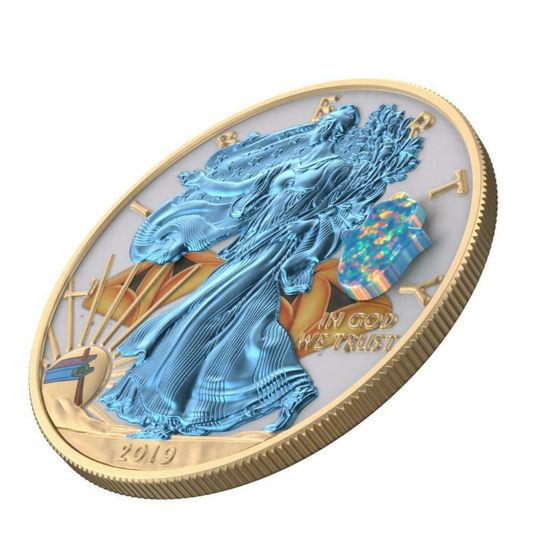 """Picture of Срібна монета """"Американський орел Liberty - Єврейське свято Пурім PURIM"""" 31.1 грам 2019 р. США"""