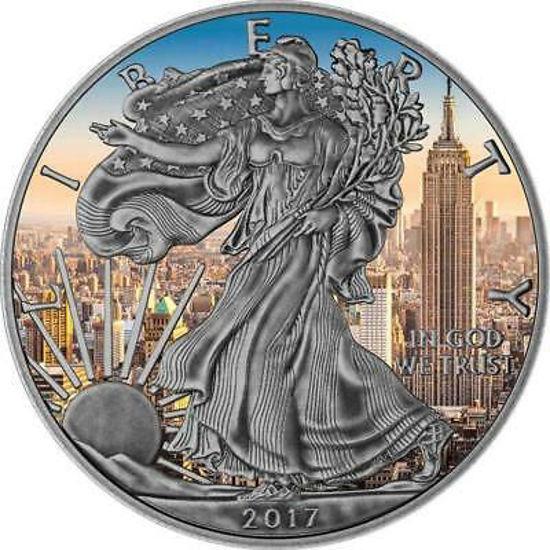"Picture of Серебряная монета  ""Американский орел Liberty - Эмпайр стейт билдинг"" 31.1 грамм 2017 г. США"