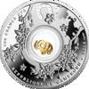"""Picture of Срібна монета 7 СЛОНИКІВ 2016  серії «Монети на щастя» з елементом покритим 24К золотом """"GOOD LUCK"""""""
