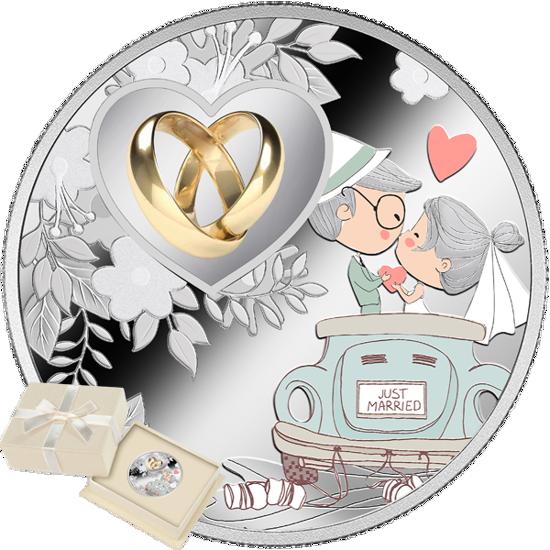 "Picture of Серебряная монета ""Свадебное путешествие"" 10 грамм 2019 г. Камерун"