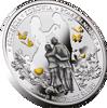 """Picture of Серебряная монета с позолотой """"Годовщина Свадьбы"""" 17,5 грамм 2018 г."""