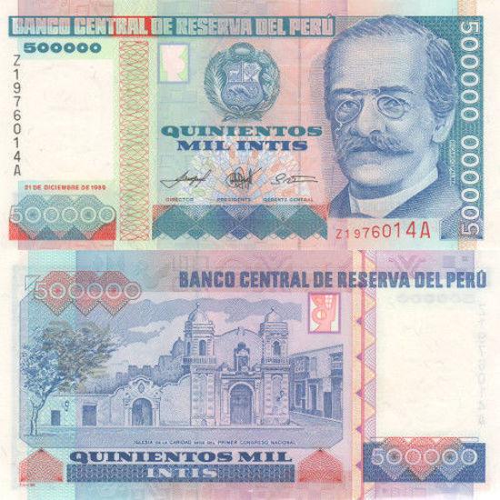 Picture of Перу 500 000 інті 1989