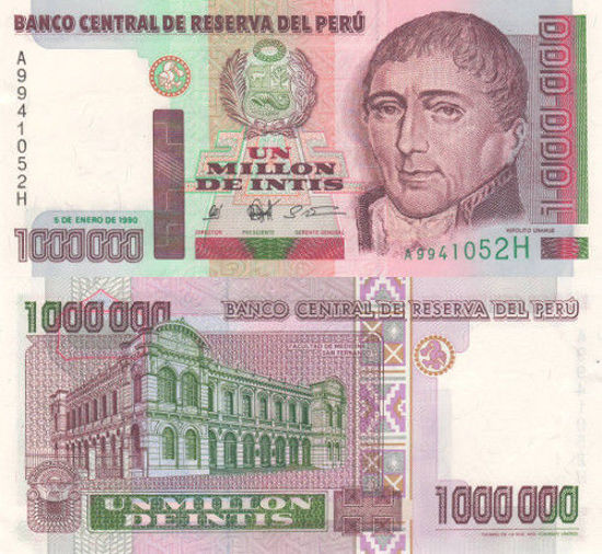 Picture of Перу 1000 000 інті 1990