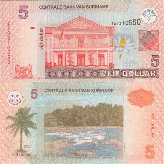 Picture of Суринам 5 долларов 2004 (Р 157а)