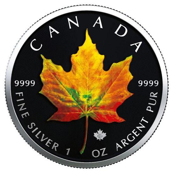 """Picture of  Срібна монета """"Кленовий лист - Осінь"""" Канада 2019"""