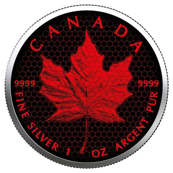 "Picture of Серебряная цветная монета ""Кленовый лист Соты"" Канада 2019"