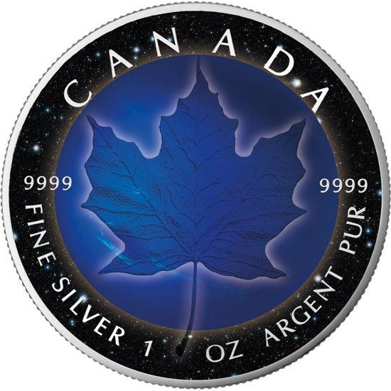 "Picture of  Срібна монета ""Кленовий лист - Нептун"" Канада 2018"