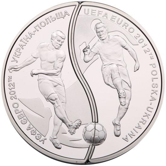 """Picture of """"УЄФА .  Євро 2012. Україна - Польща""""  (набір з двох монет, які складаються в коло діаметром 50 мм)"""