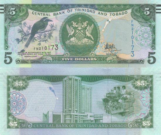 Picture of Тринідад і Тобаго 5 доларів 2017 (2006) (Р 47с)
