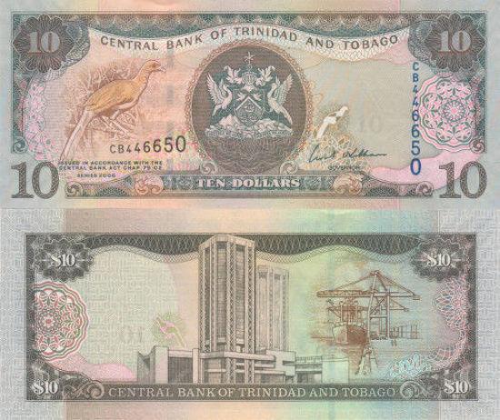 Picture of Тринідад і Тобаго 10 доларів 2006 (Р 57)