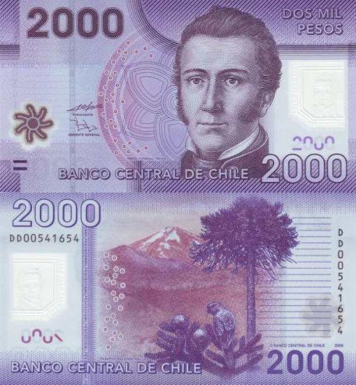 Picture of Чилі 2000 песо 2009 (Р 162)