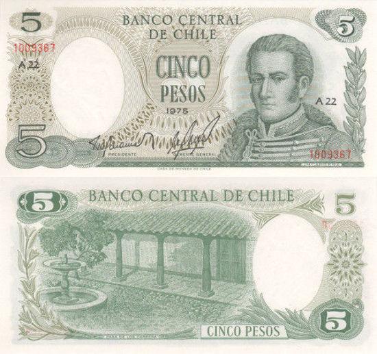 Picture of Чили 5 песо 1975 (Р 149)