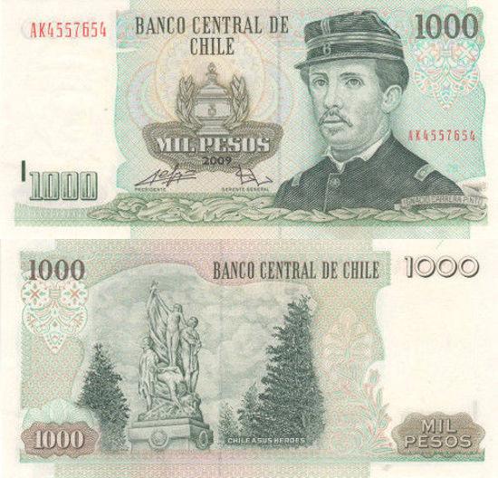 Picture of Чили 1000 песо 2009 (Р 154)