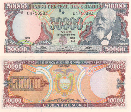 Picture of Эквадор 50 000 сукре 1999