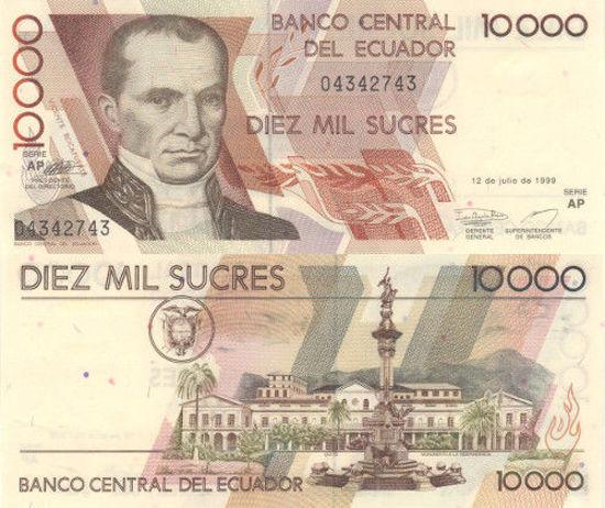 Picture of Эквадор 10 000 сукре 1999 (Р 127)