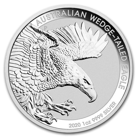 """Picture of Серебряная монета """"Австралийский клинохвостый орел"""" 31,1 грамм 2020"""