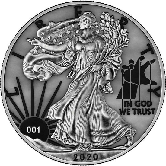 """Picture of Срібна монета """"Американський орел Liberty """" 31.1 грам 2020 р. США"""