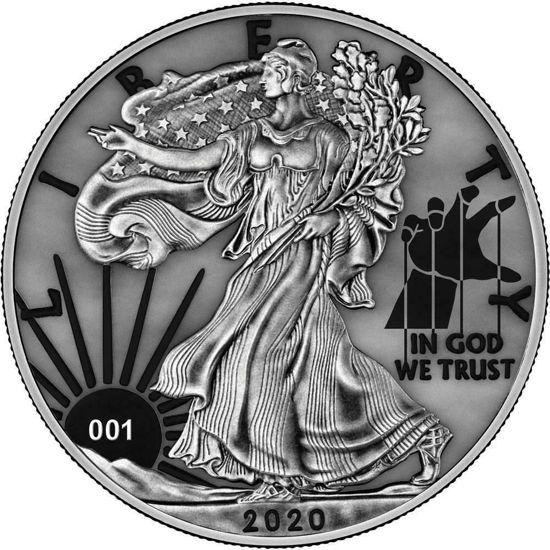 "Picture of Серебряная монета  ""Американский орел Liberty "" 31.1 грамм 2020 г. США"