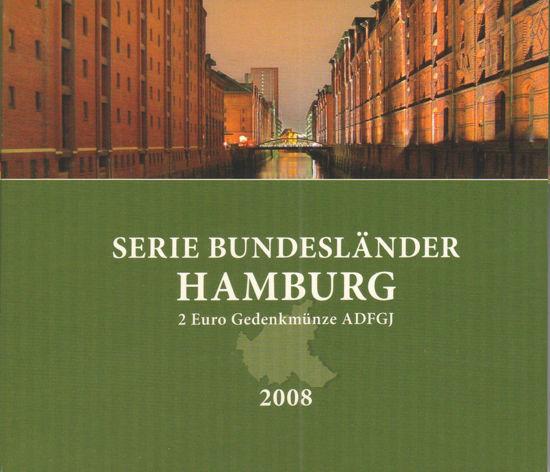 Picture of Німеччина 2 євро 2008, Федеральні землі Німеччини: Гамбург (в блістері)