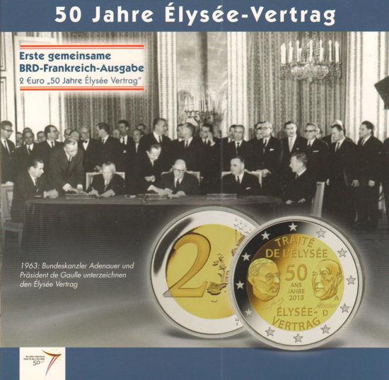 Picture of Німеччина і Франція 2 євро 2013, Єлисейський договір (в блістері)