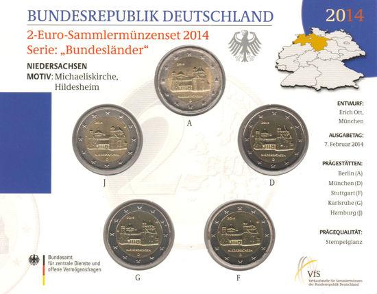 Picture of Германия 2 евро 2014, Федеральные земли Германии: Нижняя Саксония (в блистере)