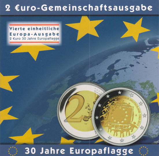 Picture of Германия 2 евро 2015, 30 лет флагу евросоюза (в блистере)