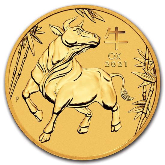 """Picture of Золота монета Австралії """"Lunar III - Рік Бика"""" 15,55 грам 2021 р."""