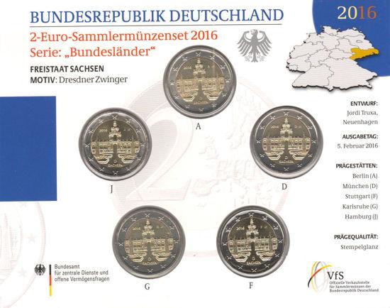 Picture of Германия 2 евро 2016, Федеральные земли Германии: Саксония (в блистере)